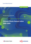 Chinese Plants Names Index 2000-2009  - EDP Sciences